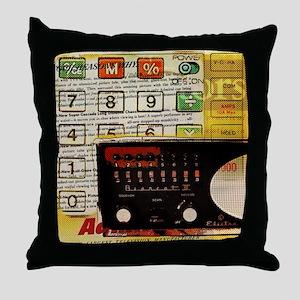 retro geeky electronics Throw Pillow