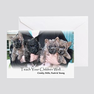 Unique Cairn Puppies Greeting Card