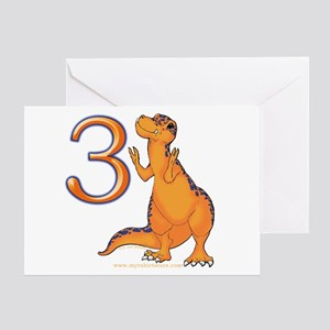 Kids Dino 3rd Birthday Card