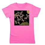 Pink Sakura Gold Black Girl's Tee
