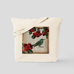 botanical print bird cherry Tote Bag