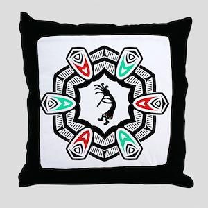 Kokopelli God of mischief  Throw Pillow