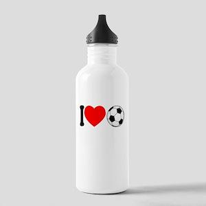I Heart Soccer Stainless Water Bottle 1.0L
