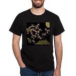 Pink Sakura Gold Black T-Shirt