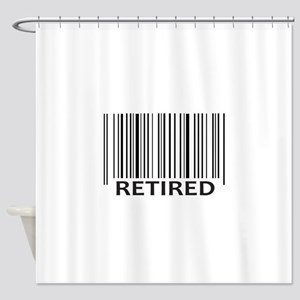 RETIRED BAR CODE Shower Curtain