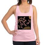 Pink Sakura Gold Black Racerback Tank Top