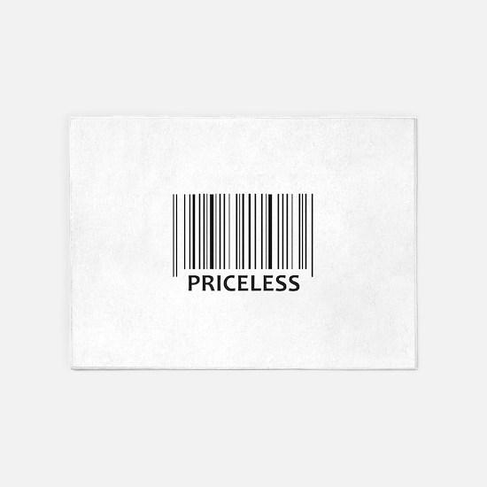 PRICELESS BAR CODE 5'x7'Area Rug