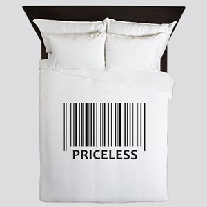 PRICELESS BAR CODE Queen Duvet
