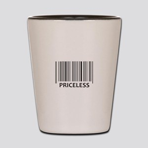 PRICELESS BAR CODE Shot Glass