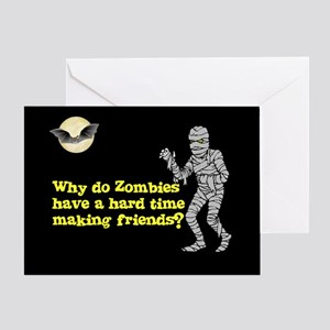 Halloween Zombies Greeting Card