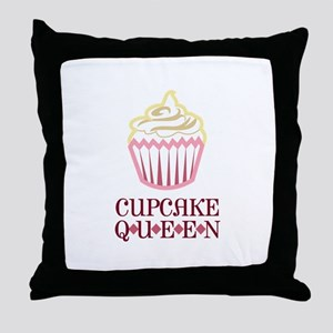 CUPCAKE QUEEN APPLIQUE Throw Pillow