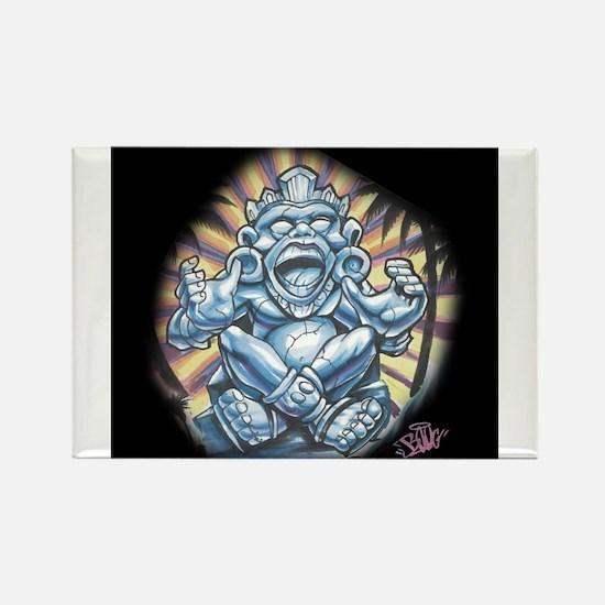 Warrior Aztec Tattoo Rectangle Magnet