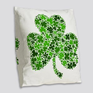 Shamrock of Shamrocks Burlap Throw Pillow