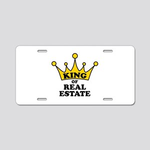 King of Real Estate Aluminum License Plate
