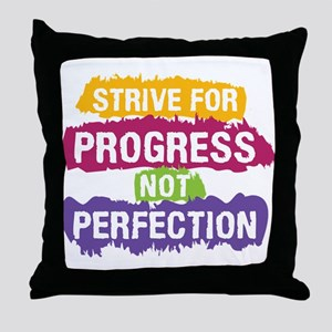 Strive for Progress Throw Pillow