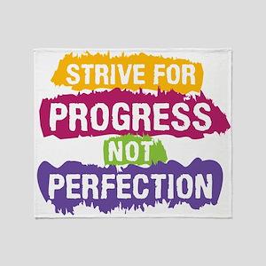 Strive for Progress Throw Blanket
