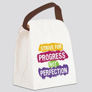 Strive for Progress Canvas Lunch Bag