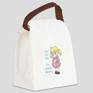 I'm Not Shy I'm Quietly Plotting Canvas Lunch Bag