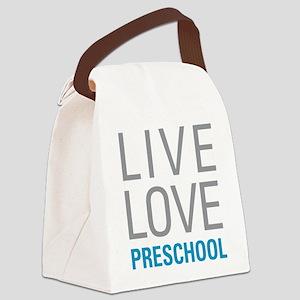 Live Love Preschool Canvas Lunch Bag