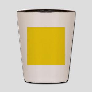 abstract bold yellow Shot Glass