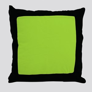 cute Neon Green Throw Pillow