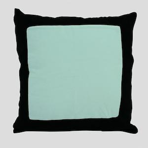 beach seafoam green Throw Pillow