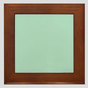 beach seafoam green Framed Tile