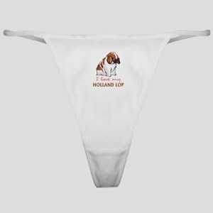 I Love My Holland Lop Classic Thong