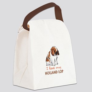 I Love My Holland Lop Canvas Lunch Bag