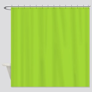 cute Neon Green Shower Curtain