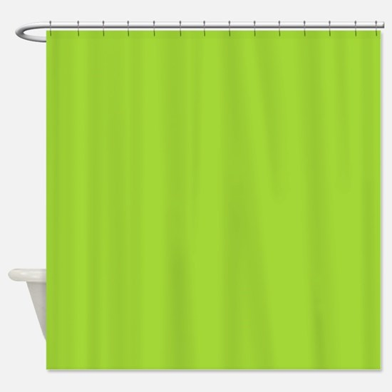 cute Neon Green Shower Curtain