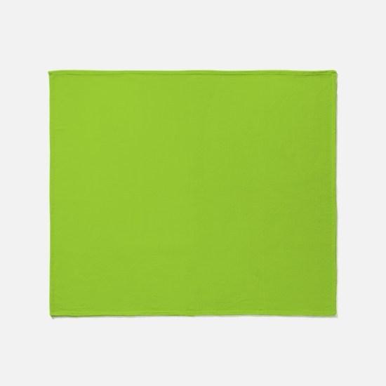 cute Neon Green Throw Blanket
