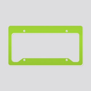 cute Neon Green License Plate Holder