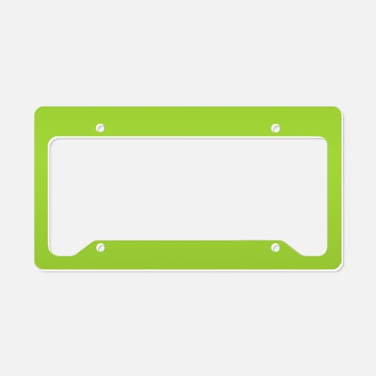 cute Neon Green License Plate Holder