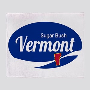 Sugarbush Resort Ski Resort Vermont Throw Blanket