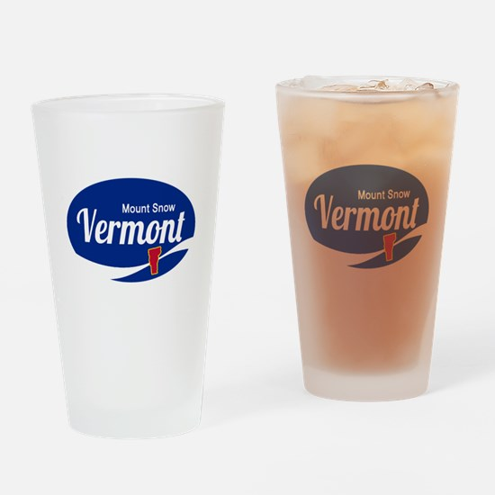Mount Snow Ski Resort Vermont Epic Drinking Glass