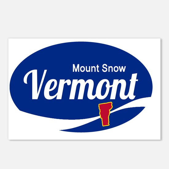 Mount Snow Ski Resort Ver Postcards (Package of 8)