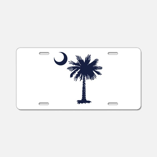 SC Flag Aluminum License Plate
