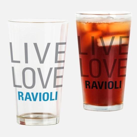 Live Love Ravioli Drinking Glass