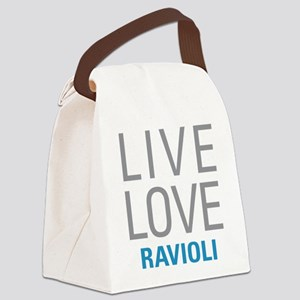 Live Love Ravioli Canvas Lunch Bag