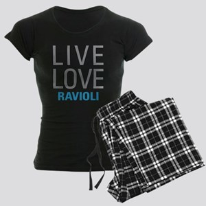 Live Love Ravioli Women's Dark Pajamas