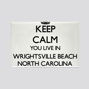 Keep calm you live in Wrightsville Beach N Magnets