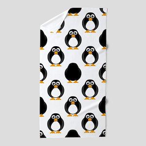 Cute Penguin Pattern Beach Towel