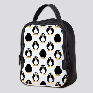 Cute Penguin Pattern Neoprene Lunch Bag