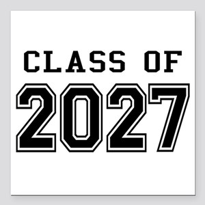 "Class of 2027 Square Car Magnet 3"" x 3"""