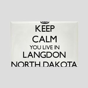 Keep calm you live in Langdon North Dakota Magnets