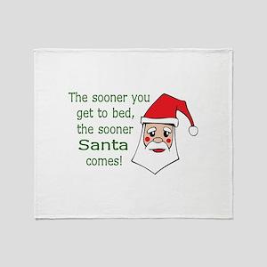THE SOONER SANTA COMES Throw Blanket