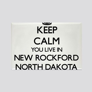 Keep calm you live in New Rockford North D Magnets