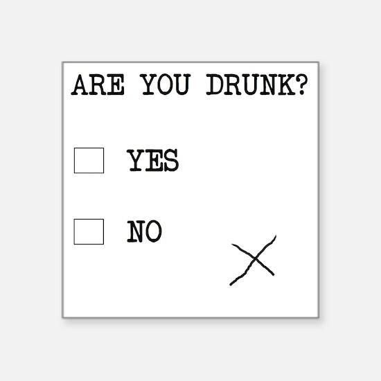 """Cute Alcohol humor Square Sticker 3"""" x 3"""""""