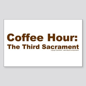 Coffee Hour Rectangle Sticker